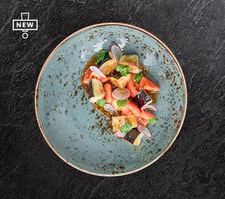 Карамелизованные баклажаны с томатами