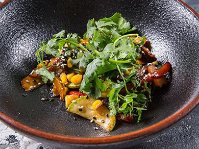 Овощи в соусе Тонкацу