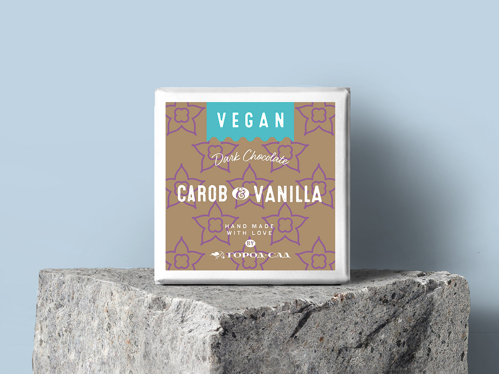 Шоколад Vegan темный на кэробе с ванилью Город-сад