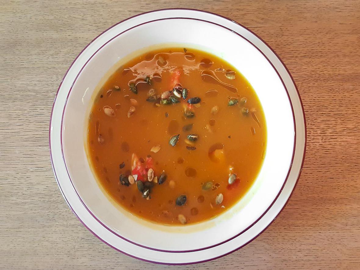 Суп Тыквенный с крабом