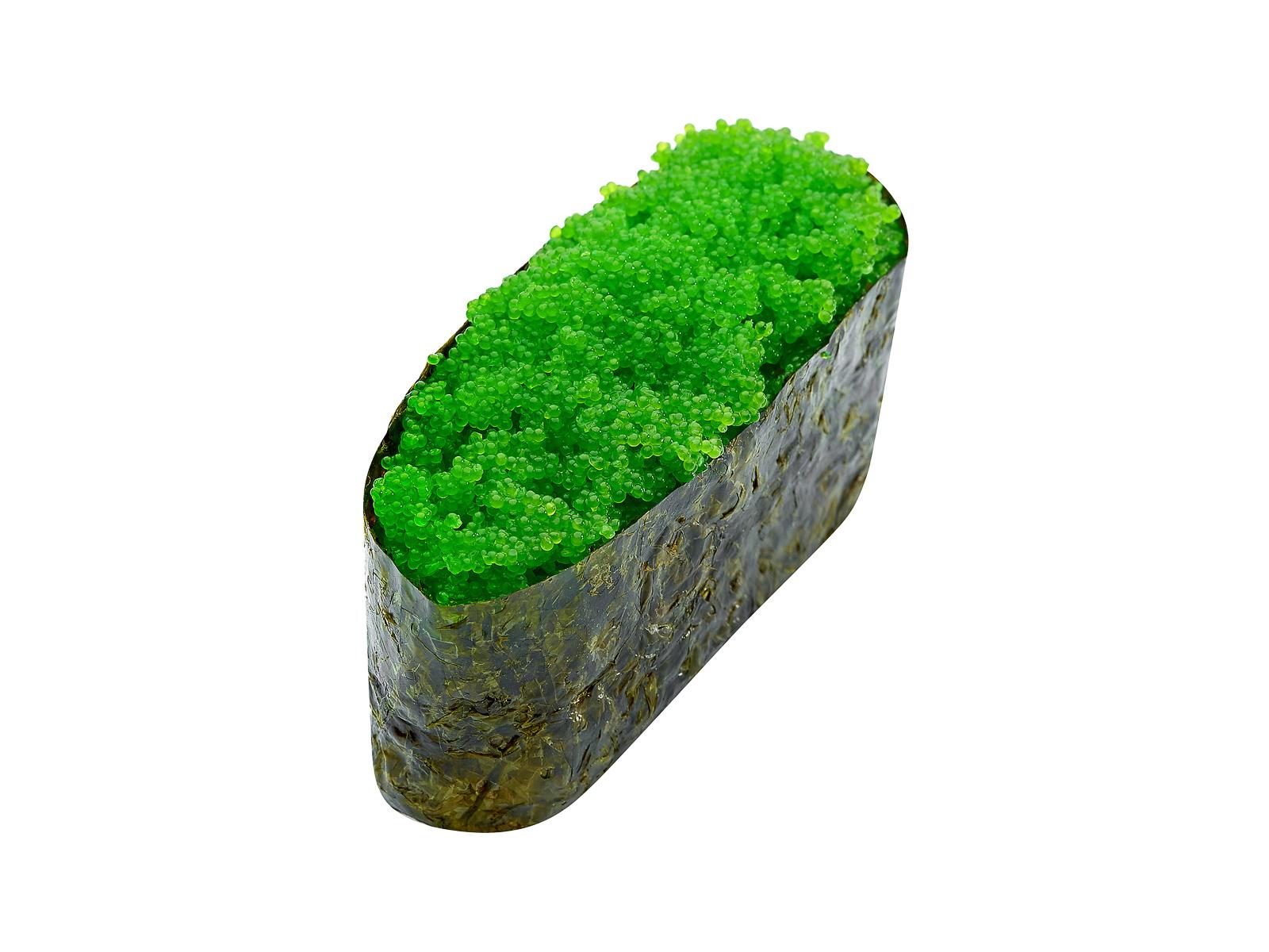 Суши с зелёной масаго