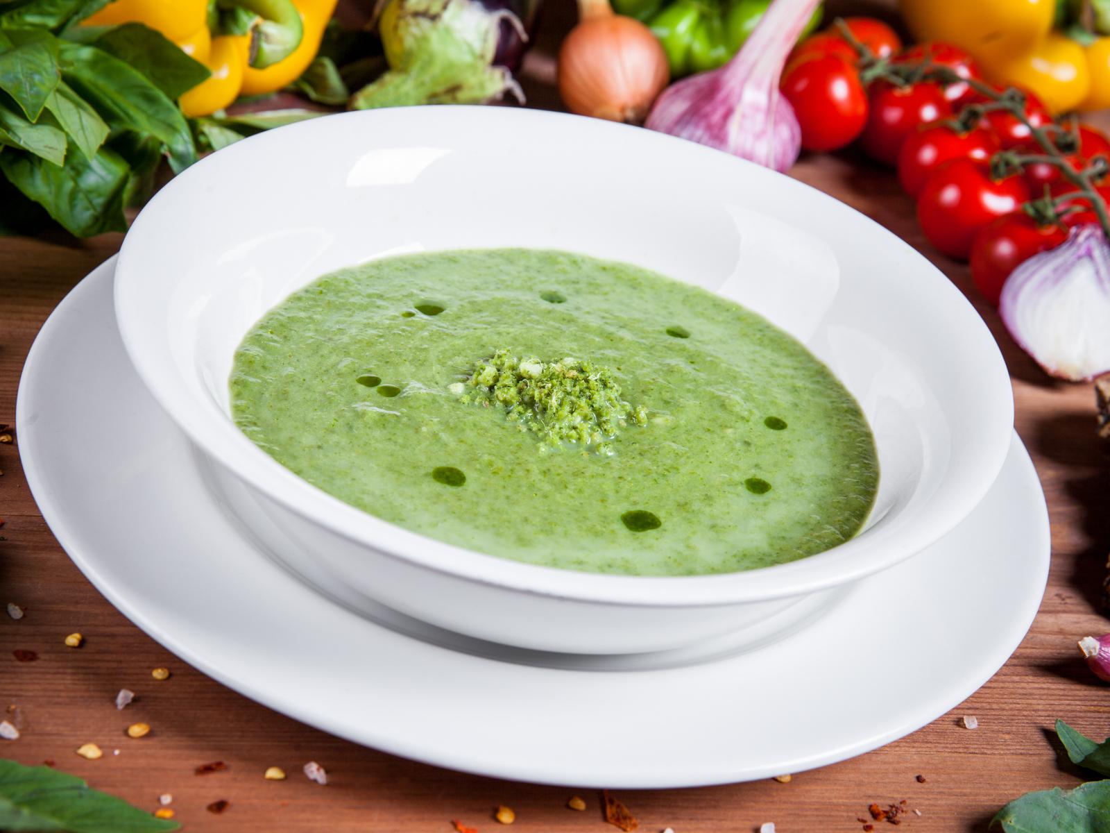 Крем-суп из шпината