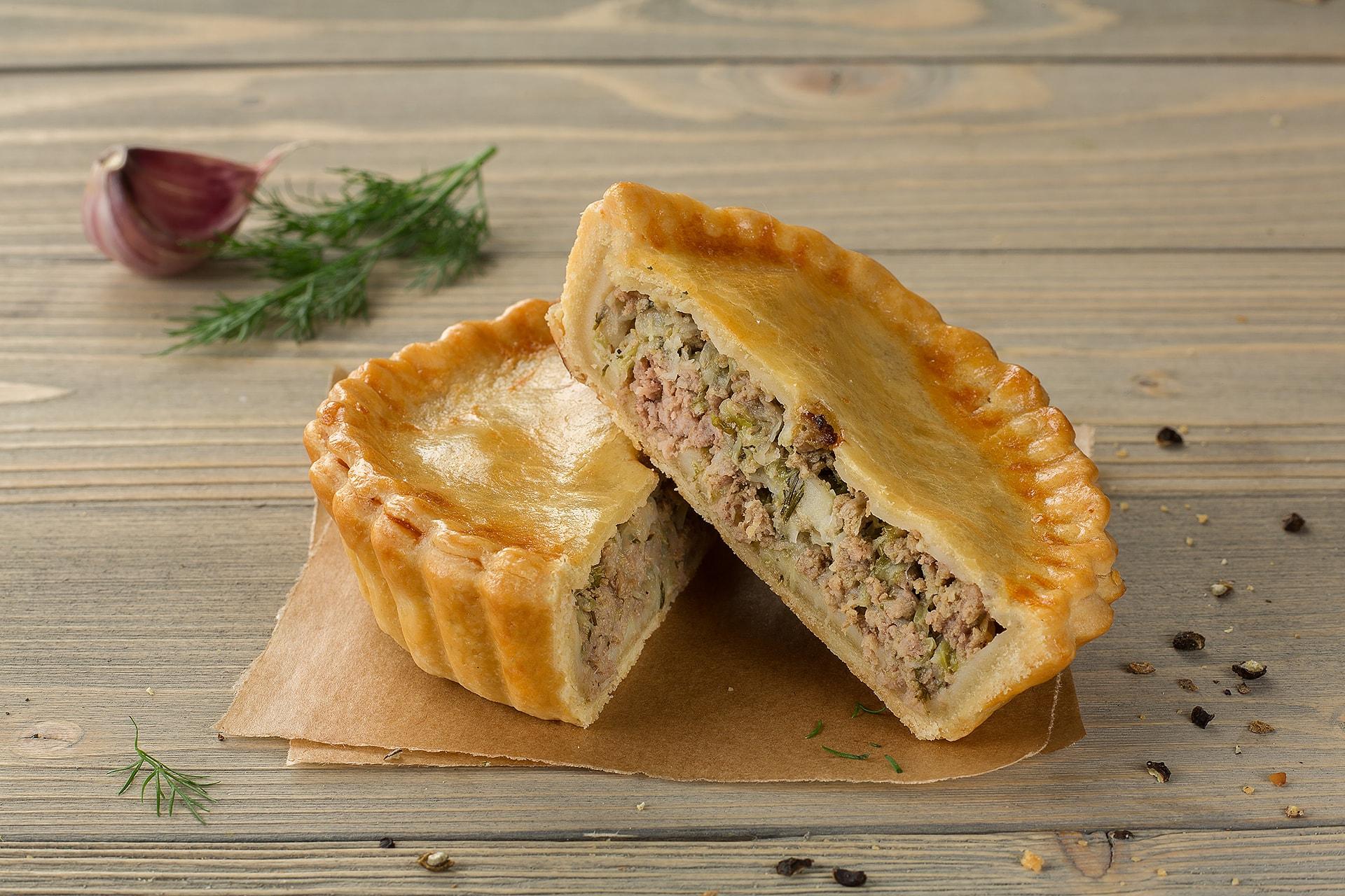 Пирог Мясо с капустой