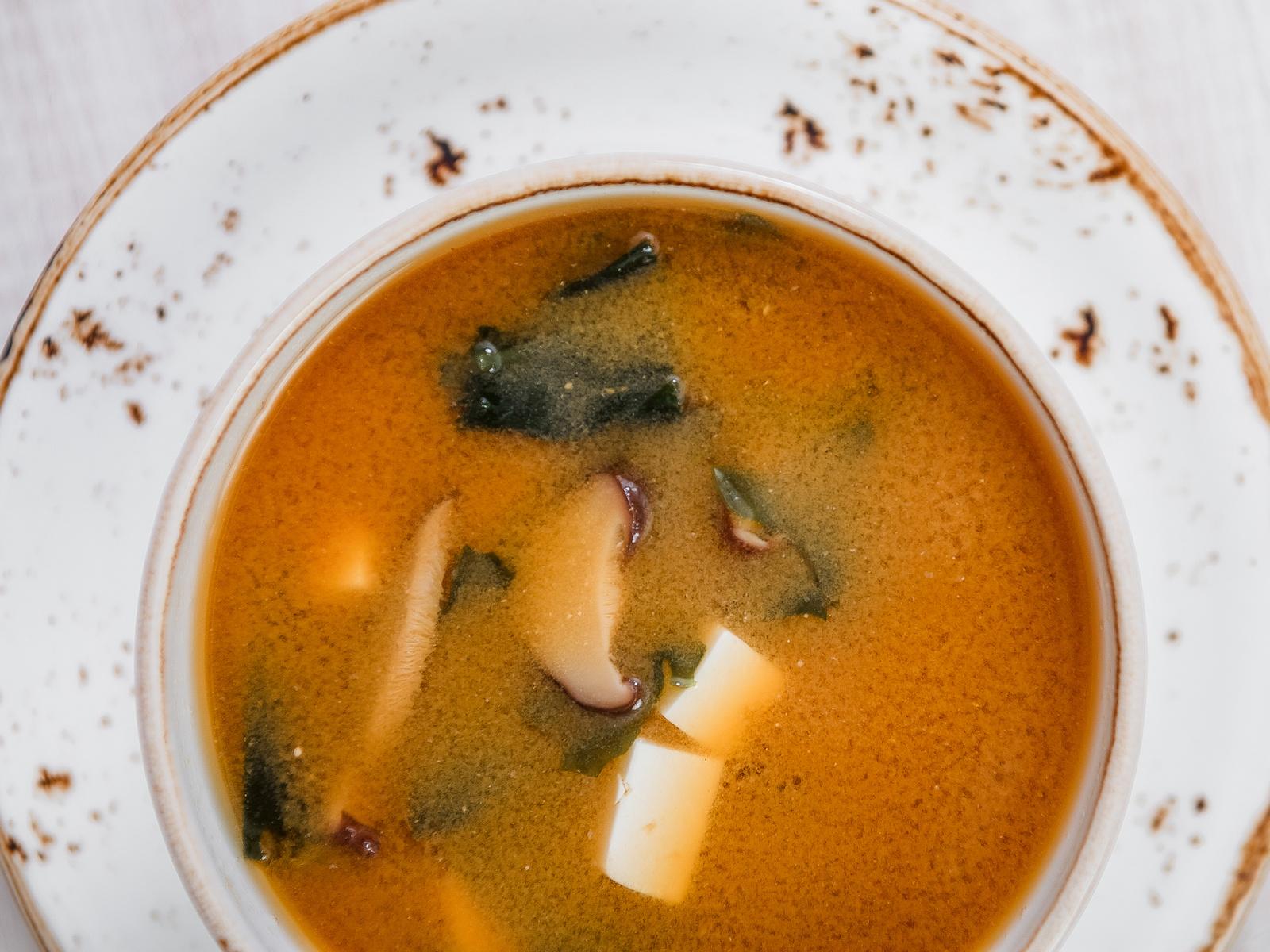 Суп Мисо с грибами шиитаке
