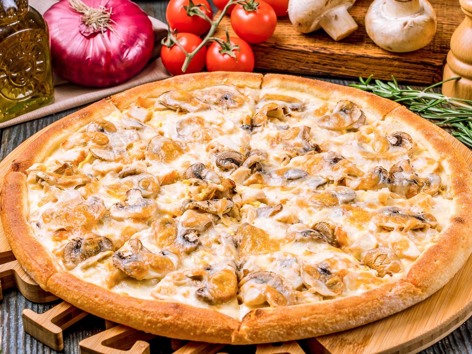 Пицца Цыпленок с грибами