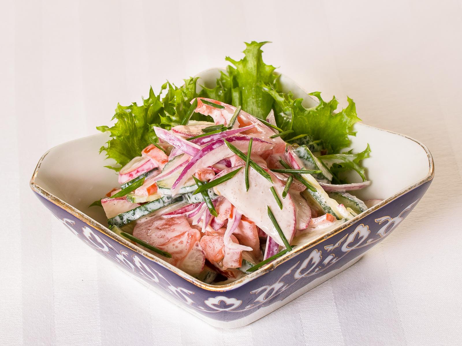 Овощной салат с сузьмой
