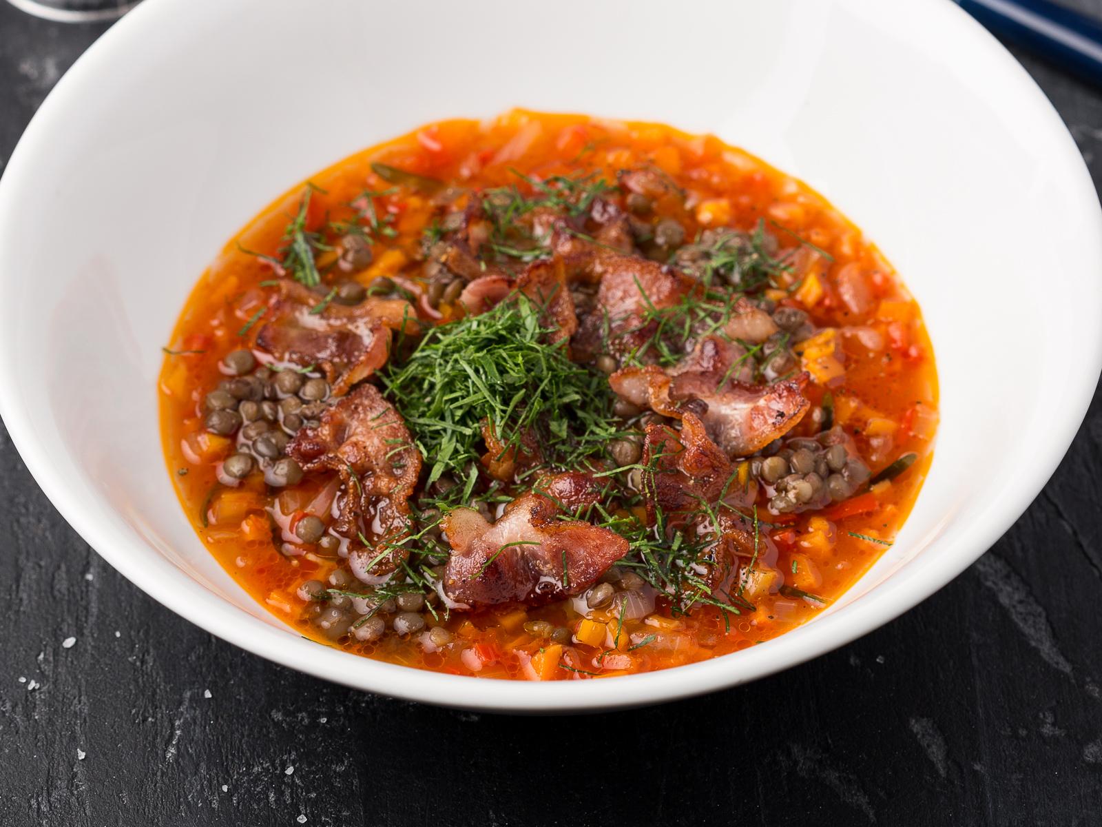 Густой мясной суп