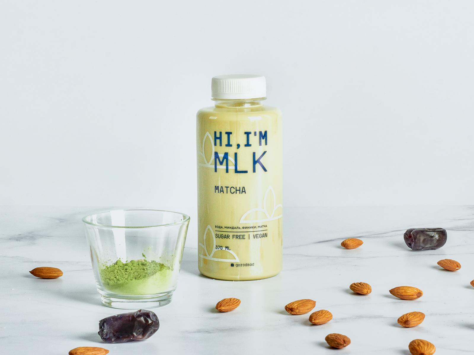 Миндальное молоко с матча