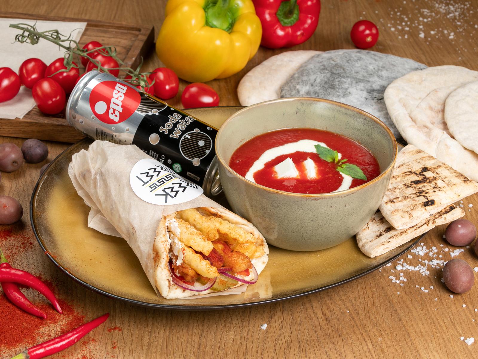 Комбо Гирос и суп