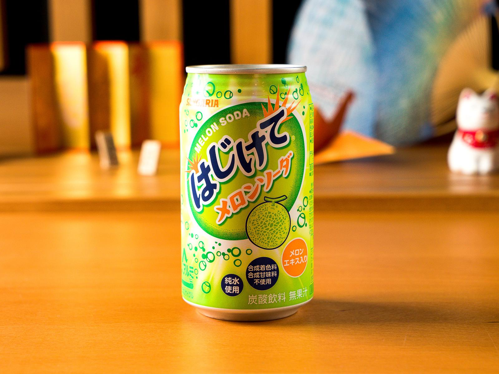 Японская газировка со вкусом дыни