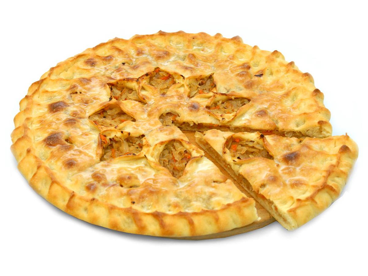Пирог с жареной капустой