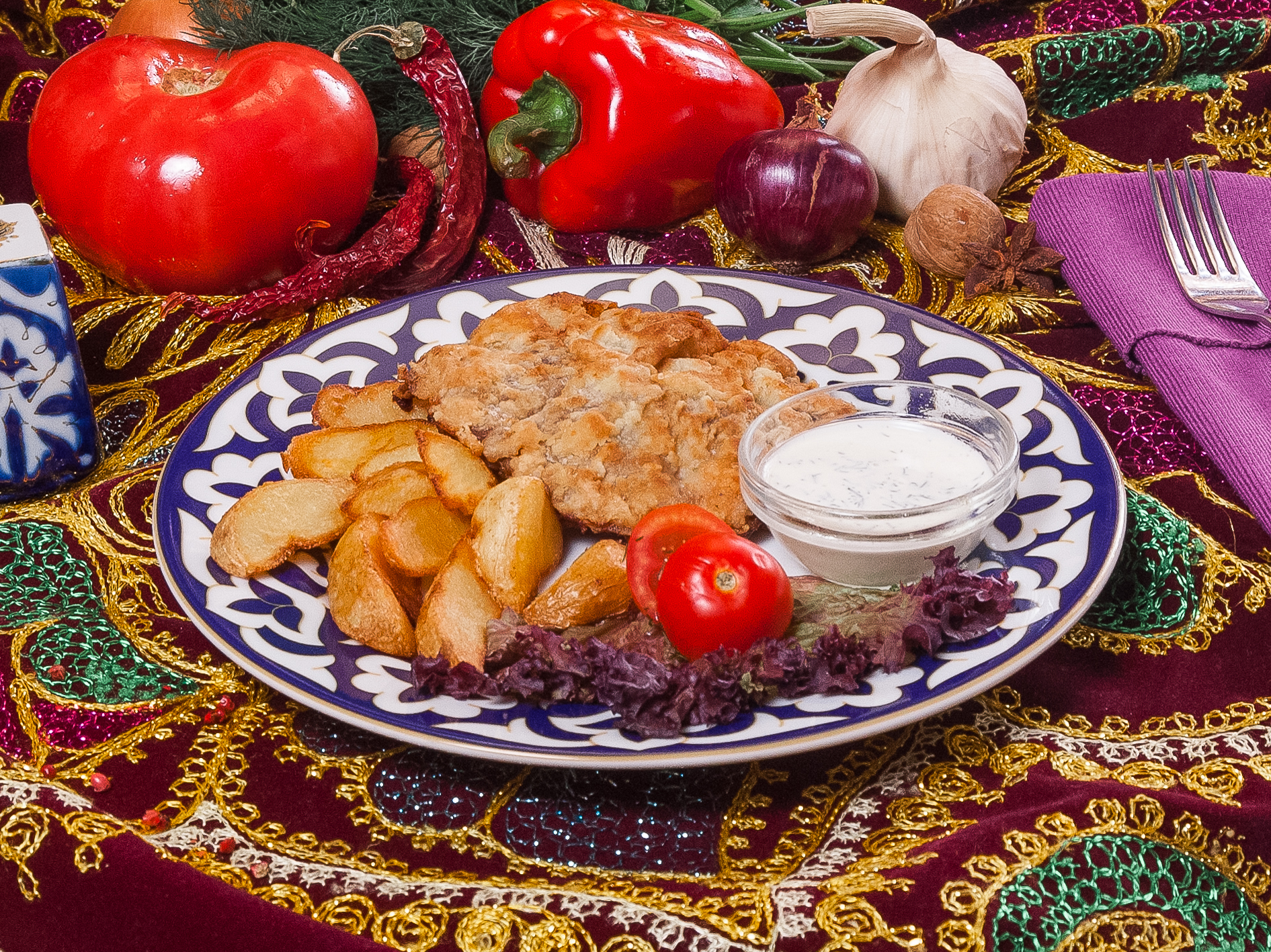 Отбивная по-узбекски