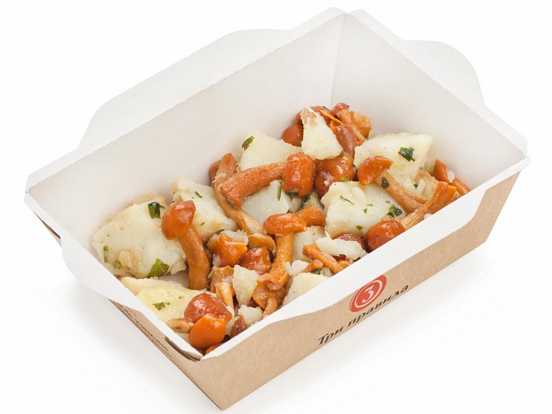 Запеченный картофель сотэ с опятами