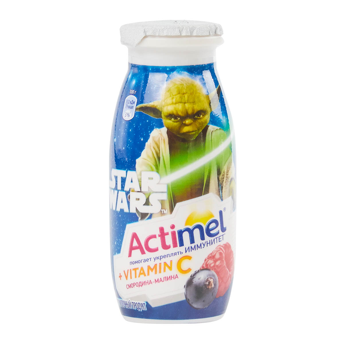 Actimel 2,5% смородина-малина