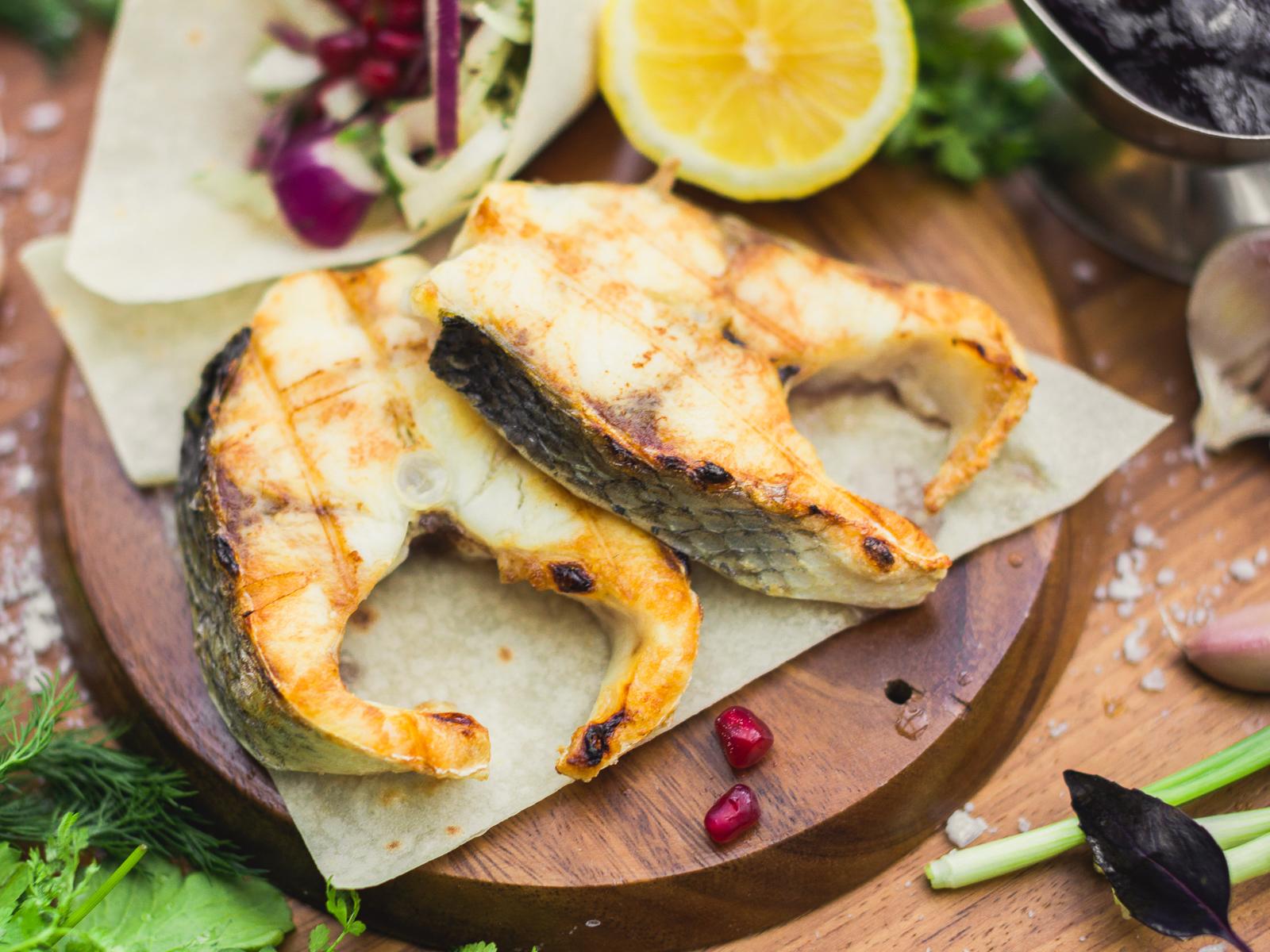Шашлык из рыбы Палтус