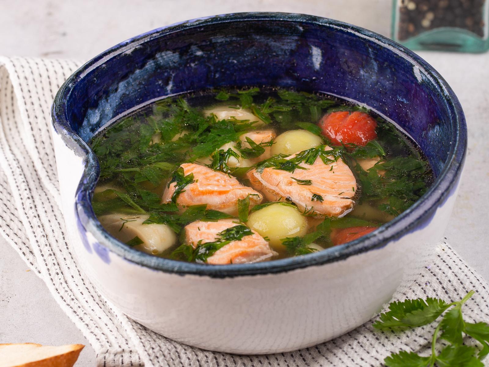Суп рыбный с зеленью и тархуном