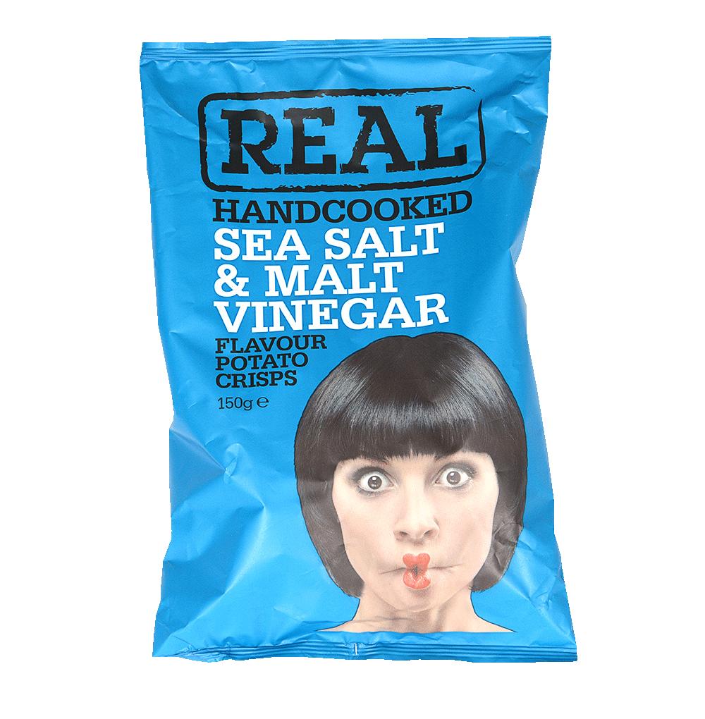 Чипсы картофельные Real с морской солью и уксусом Real Crisps Limited