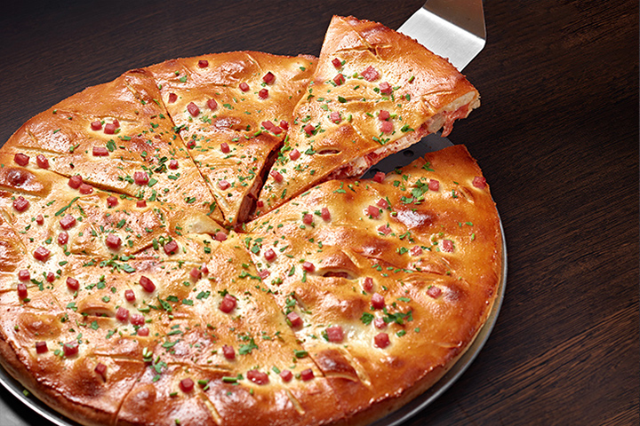 Закрытая пицца Мясной пир
