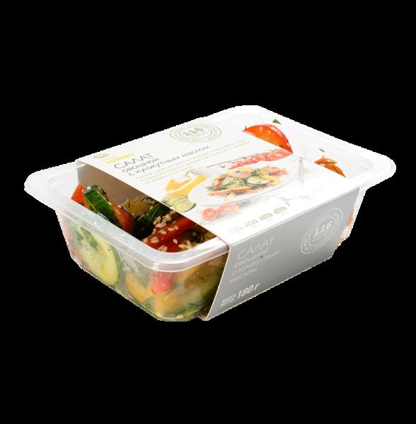 Салат овощной с кунжутным маслом