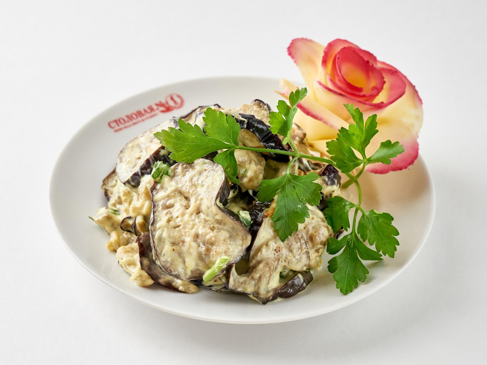 Салат из баклажанов с кинзой по-Восточному