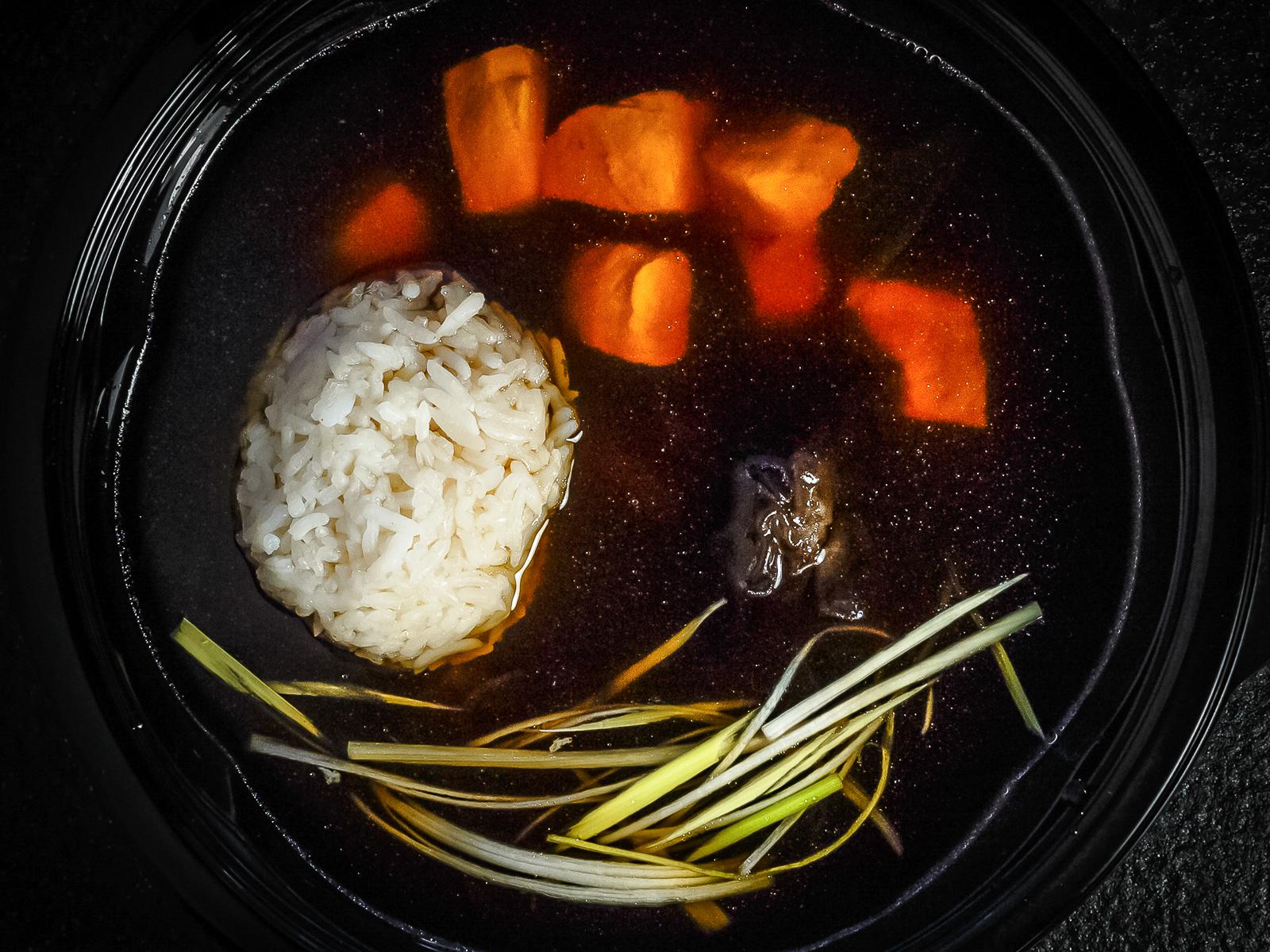 Суп Японский с лососем и рисом