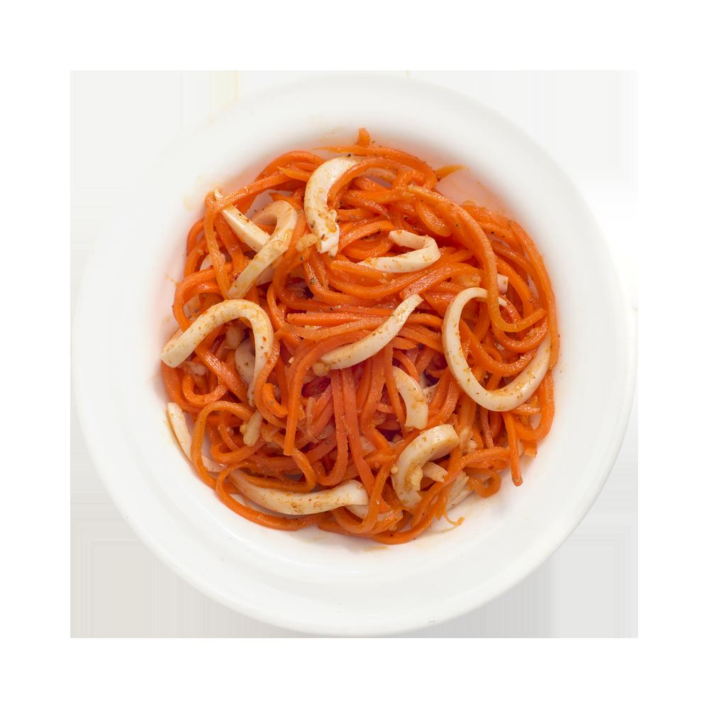 Кальмар с морковью по-корейски