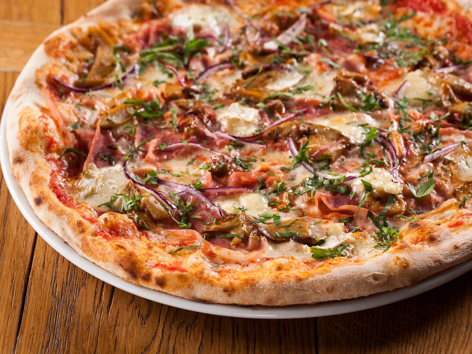 Пицца Прошутто и грибы (245 г/430 г)