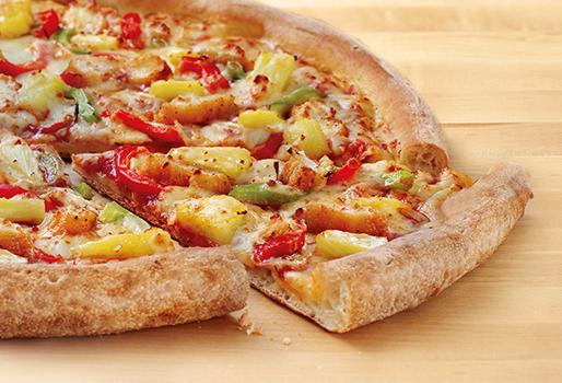 Пицца Чикен Алоха с кисло-сладким соусом