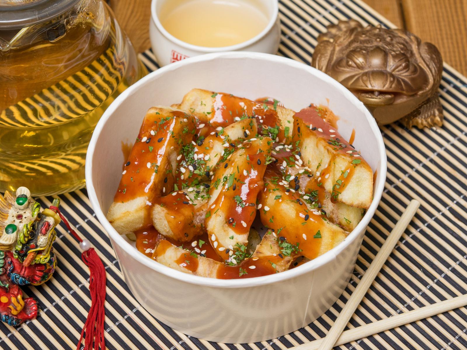 Гонконгская закуска из баклажанов