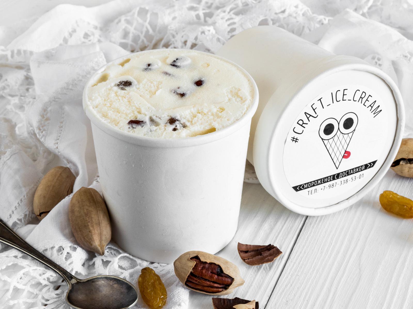 Мороженое Изюм и орех пекан