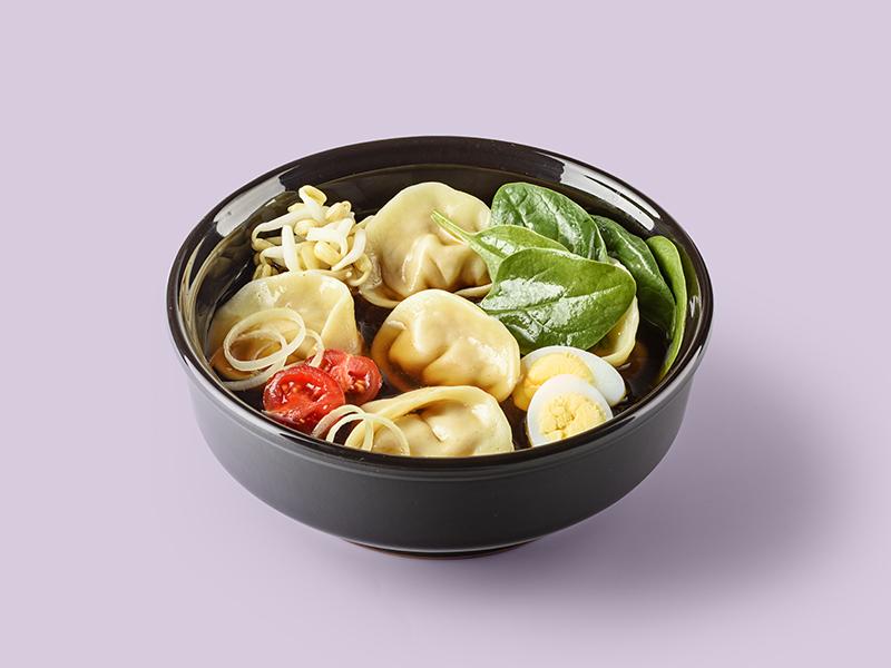 Суп Китайский с вонтонами из утки