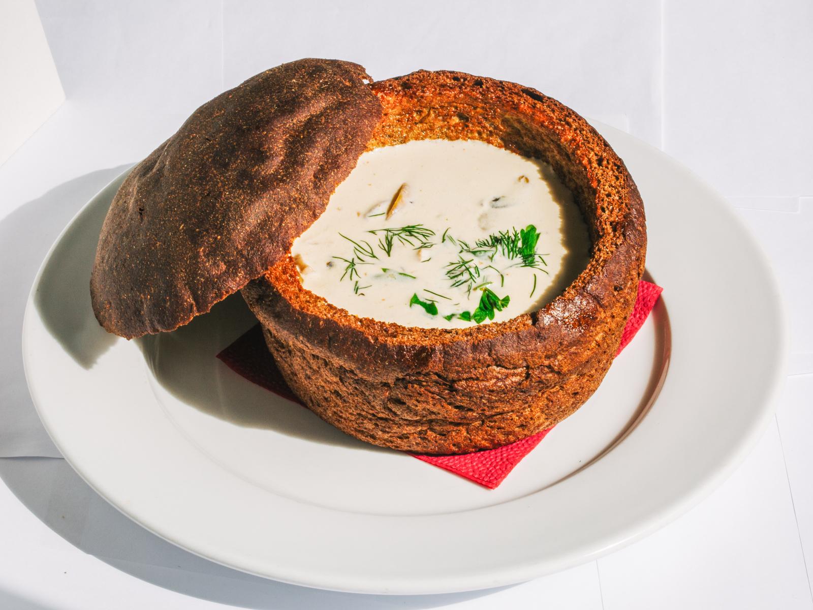 Суп Жюльен с грибами