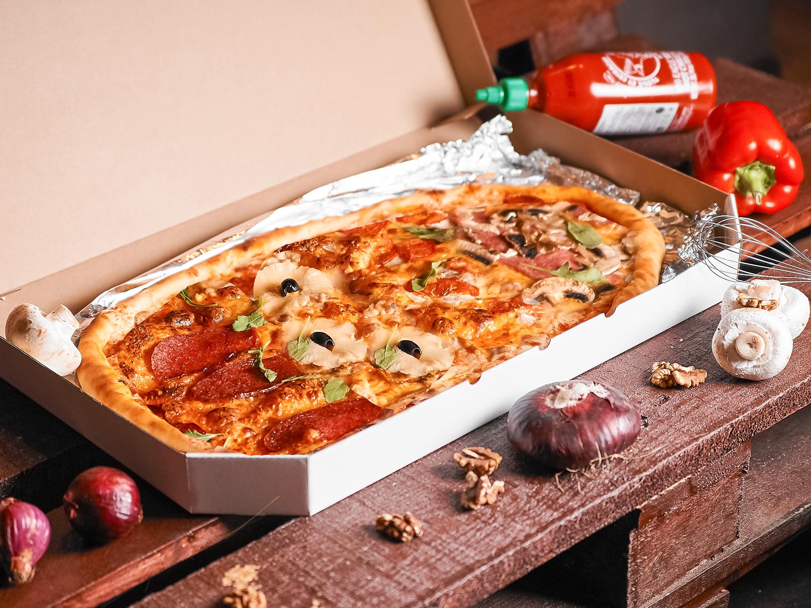 Пицца Четыре вида полуметровая