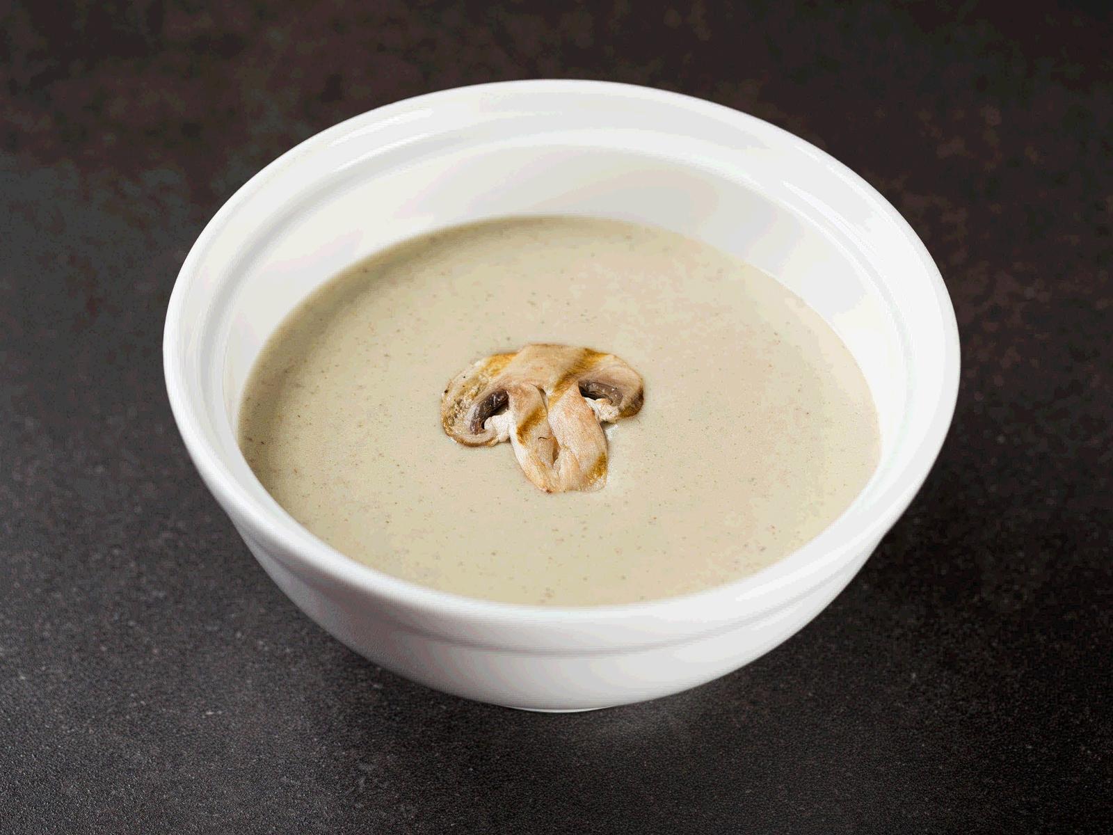 Крем-суп грибной с куриным филе