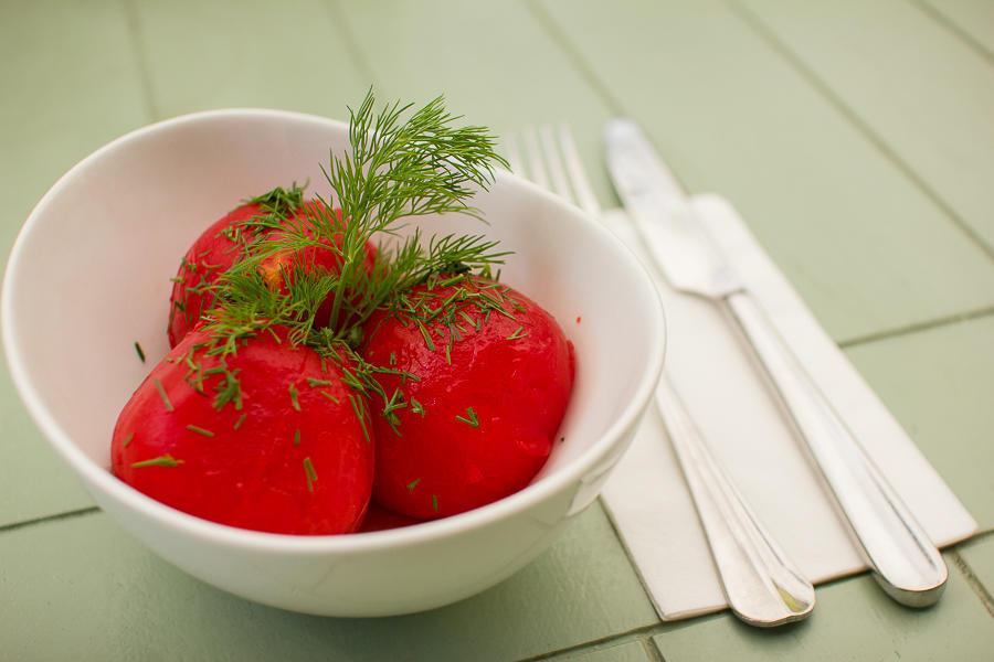Трехдневные помидоры в свежем маринаде