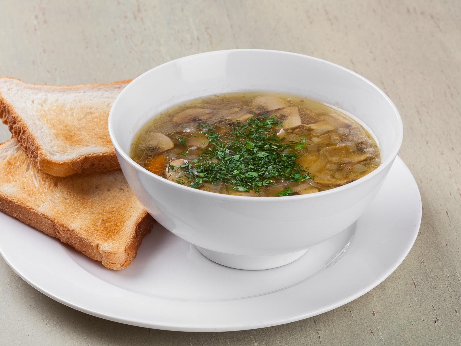 Суп постный с грибами