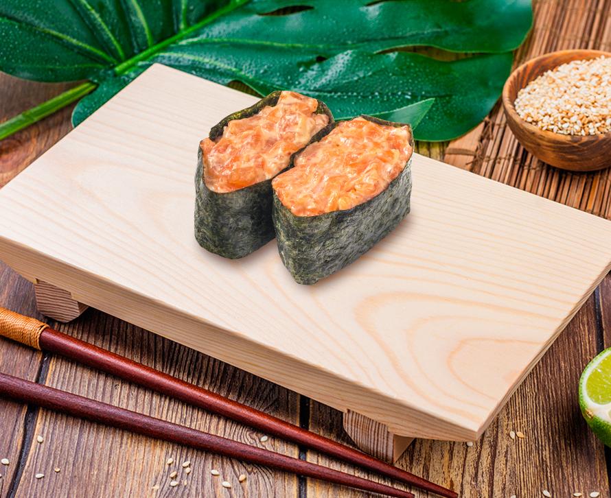 Суши острые с лососем (2 шт.)