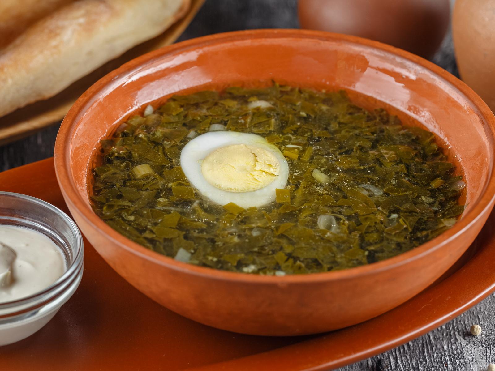 Суп Мжауна борщ из щавеля