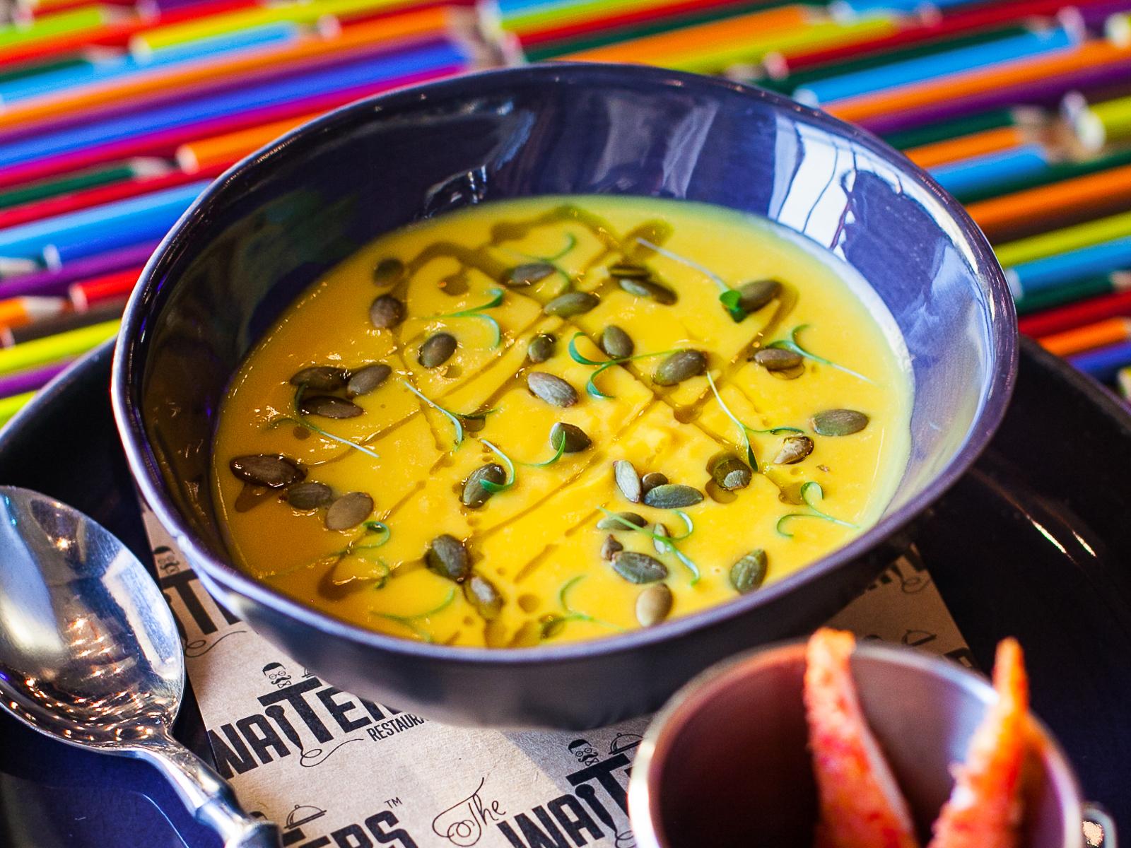 Крем-суп Тыквенный с креветками