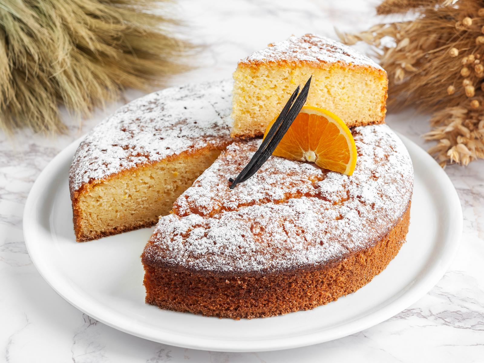 Молочный кекс с ванилью и апельсином