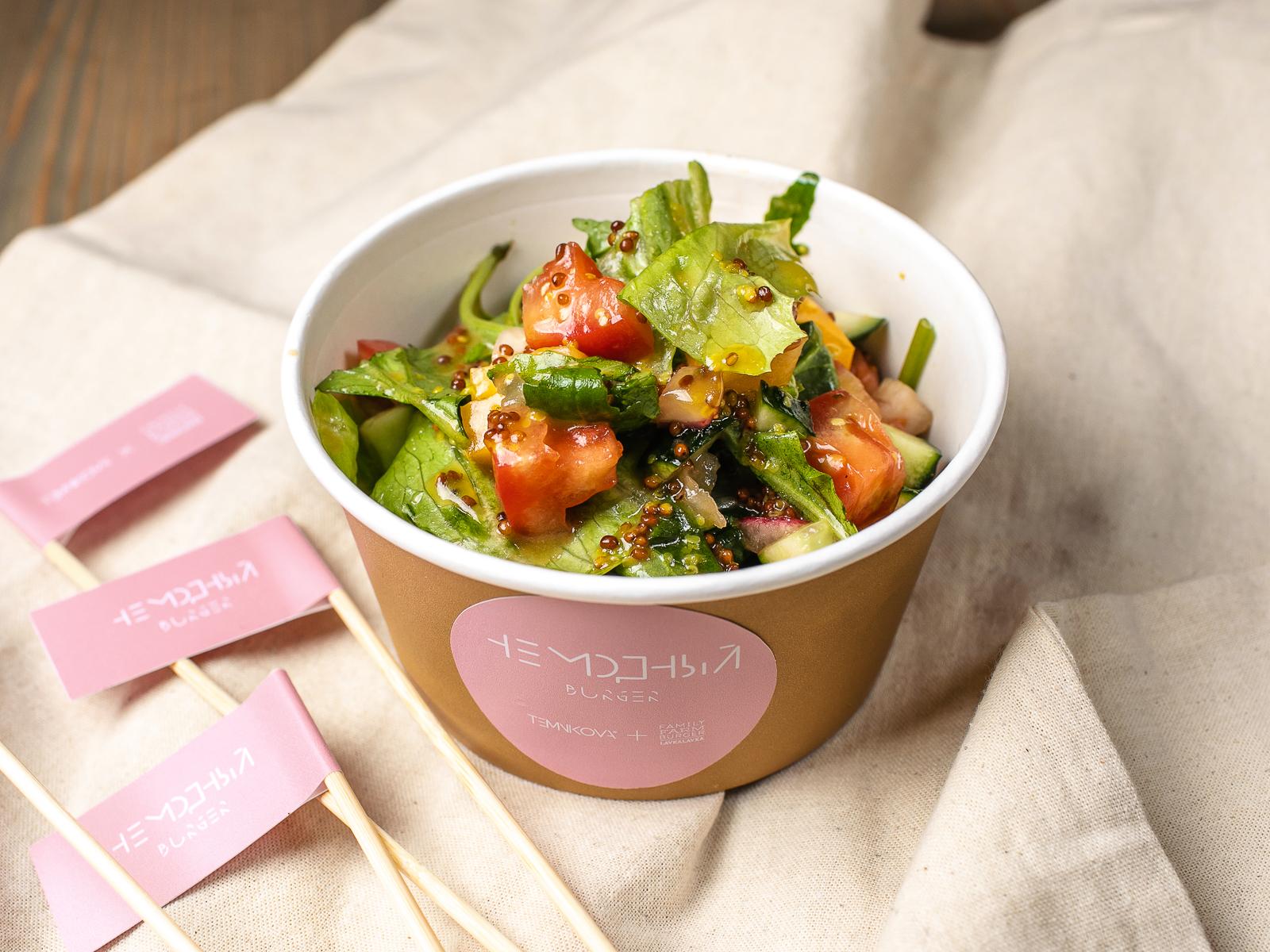 Сочный салат от Елены Темниковой