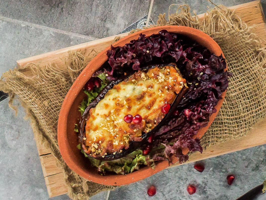 Баклажан запеченный с сыром