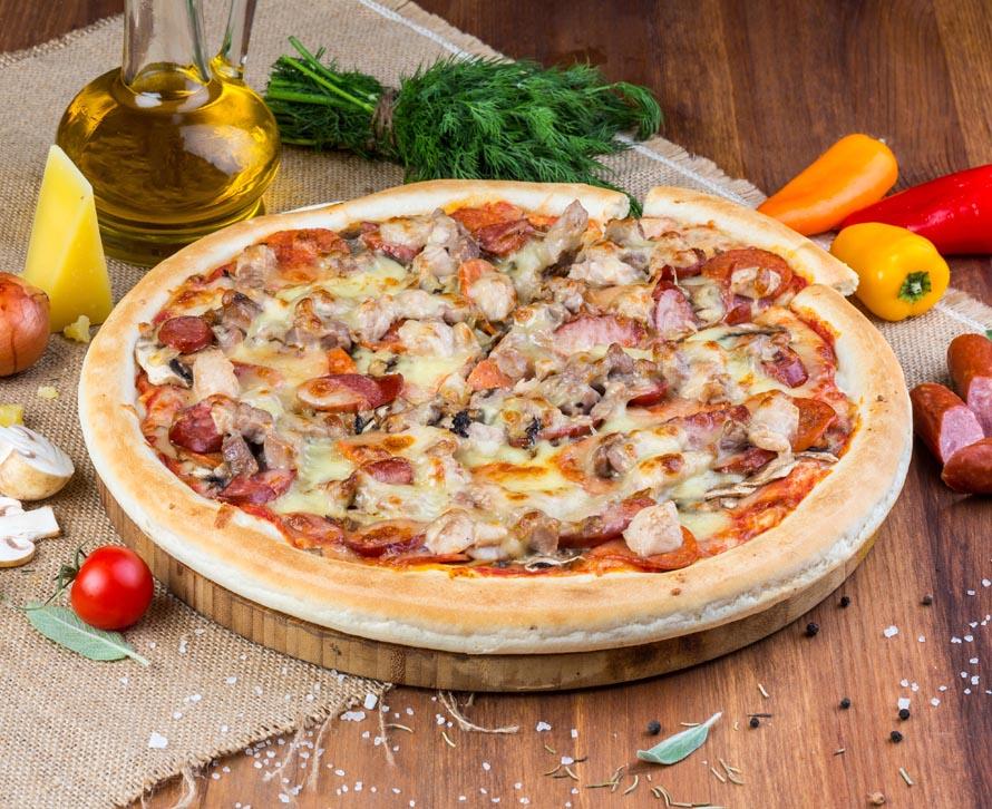 Пицца Мясная с двойной начинкой