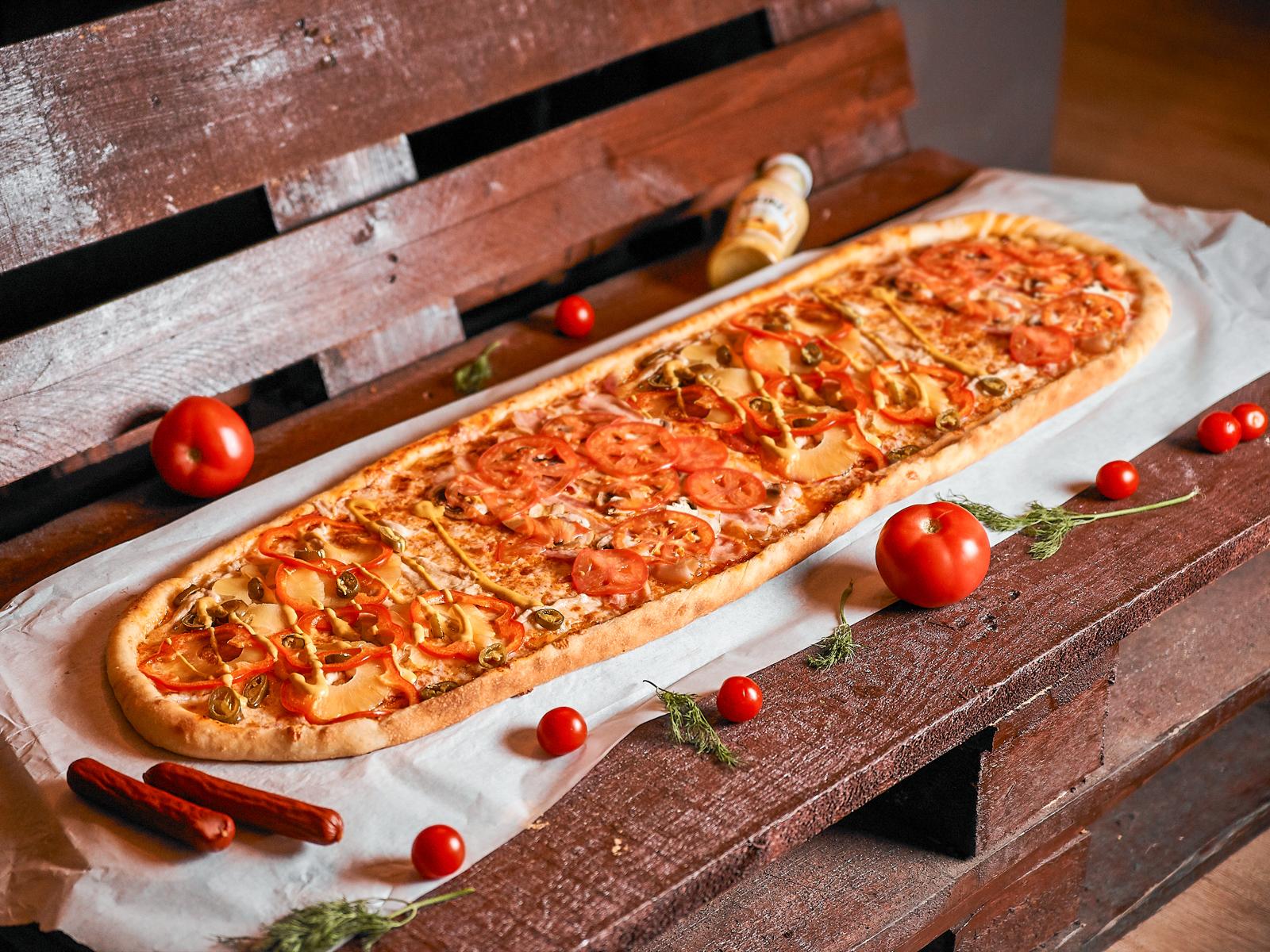 Пицца Карри метровая