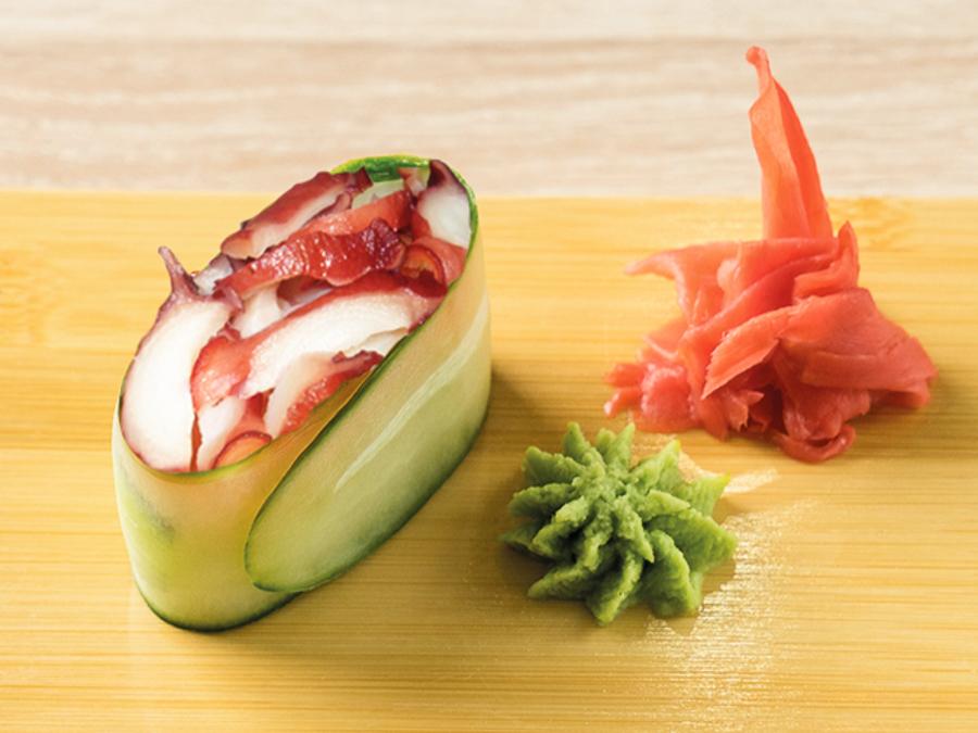 Каппа-суши с осьминогом