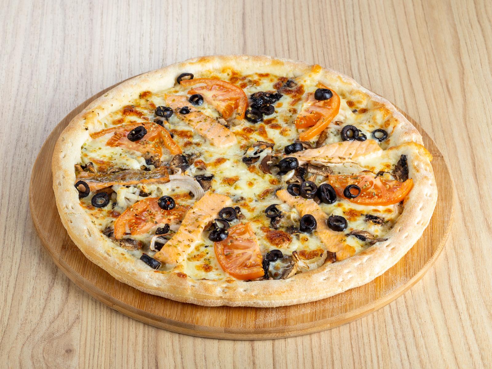 Пицца Морская с грибами