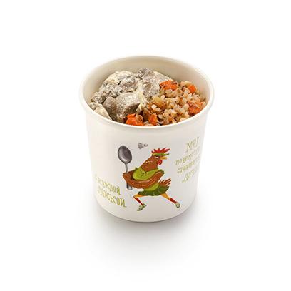 Гречневая каша с грибами в сливочном соусе