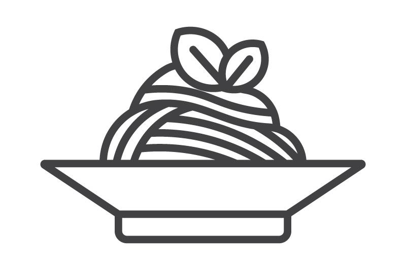 Пенне помидоры и базилик Ланч