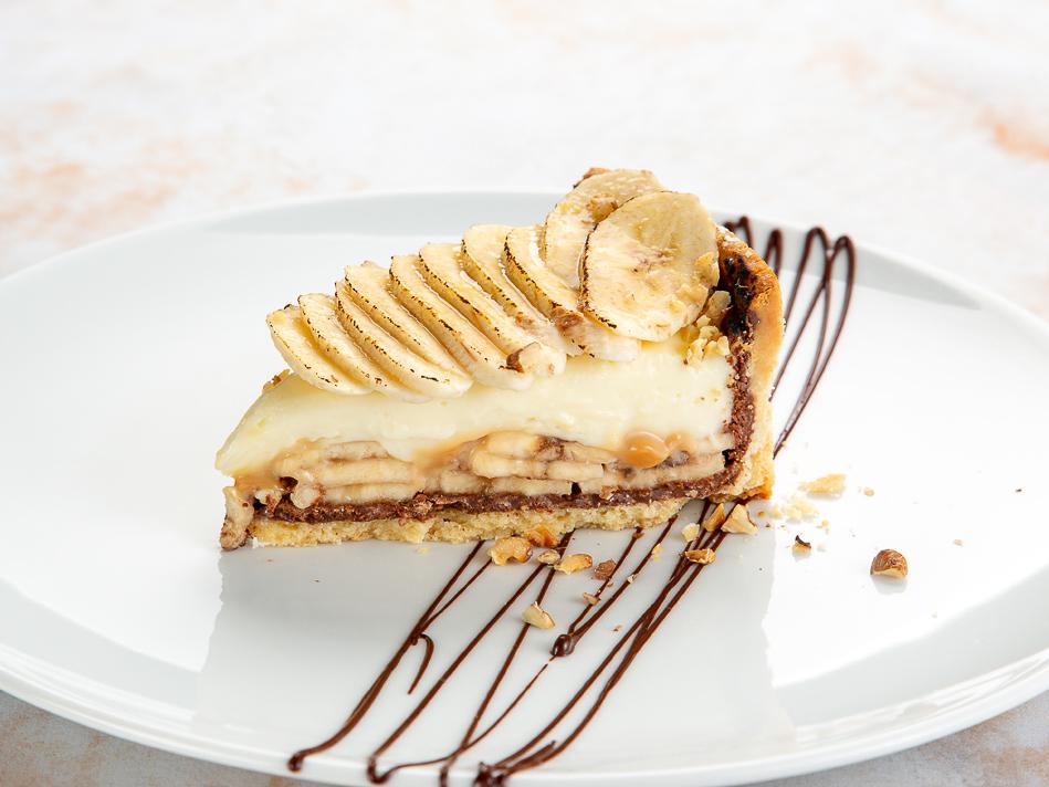 Банановый тарт с шоколадом
