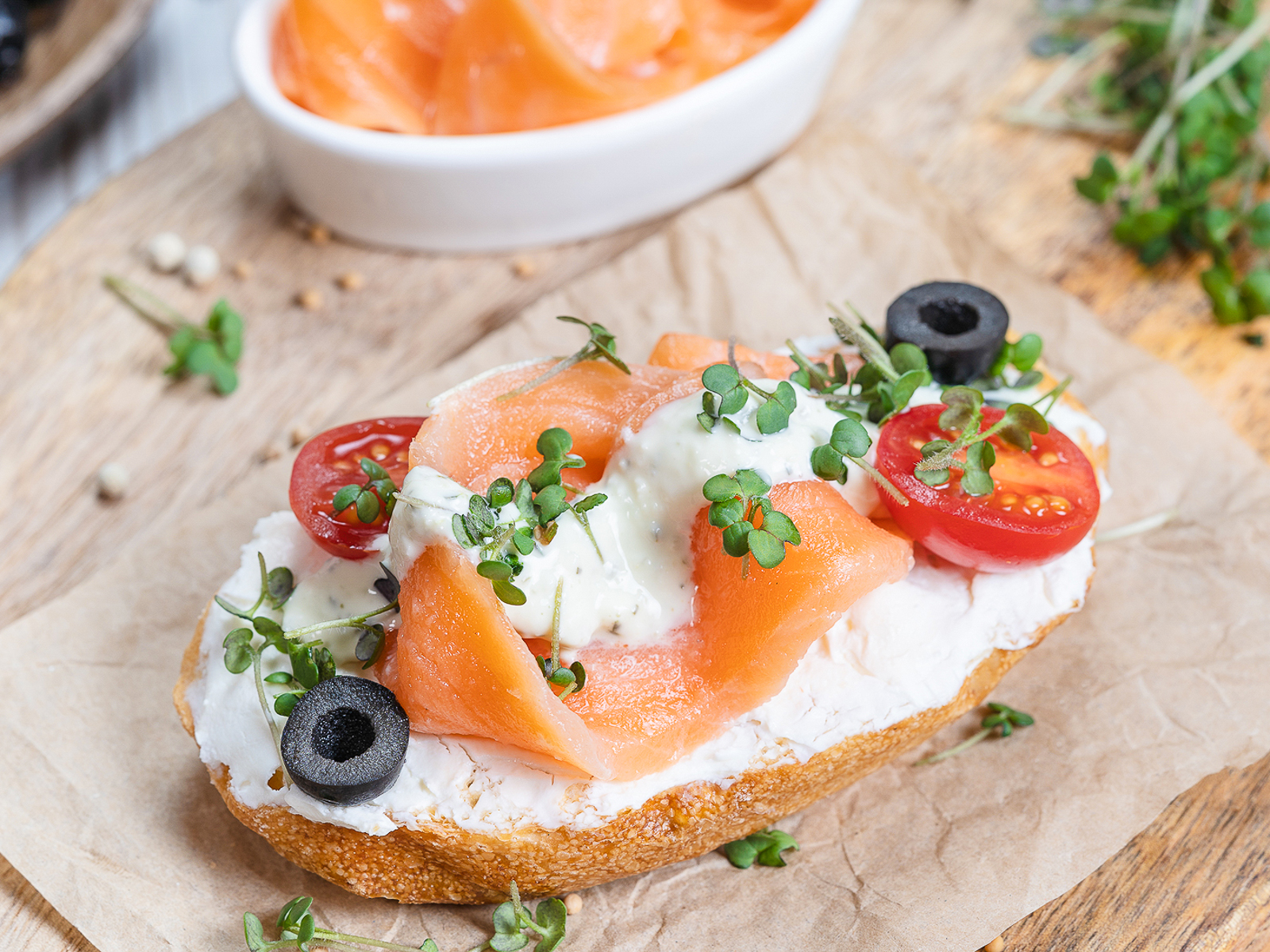 Бутерброд Тартарский лосось